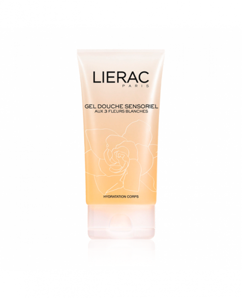LIERAC gel douche sensorielle collection blanche 1...