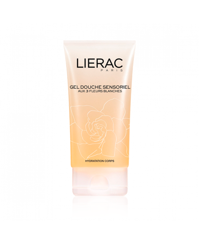 LIERAC gel douche sensorielle collection blanche 150 ml